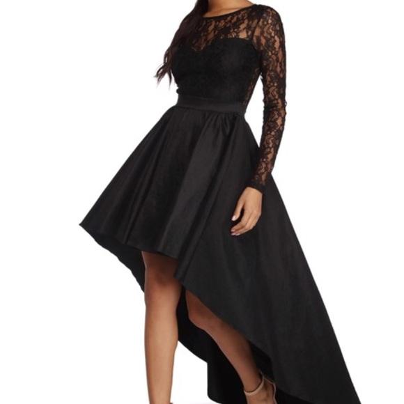 cc1f5a011edb Windsor Dresses | High Low Long Sleeve Lace Dress | Poshmark
